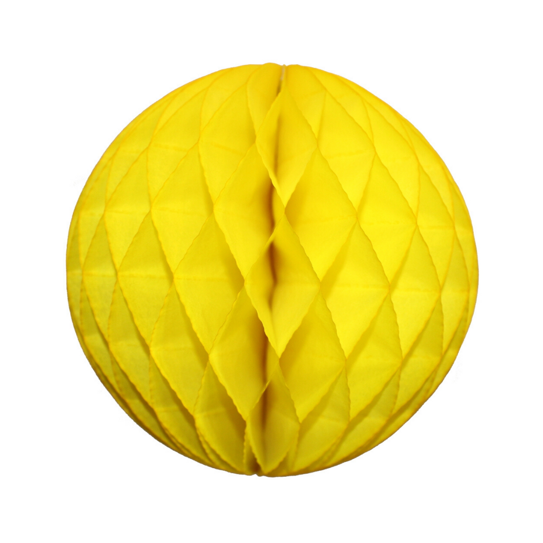 Yellow Tissue Paper Honeycomb Ball (3 sizes) - Ellie and Piper