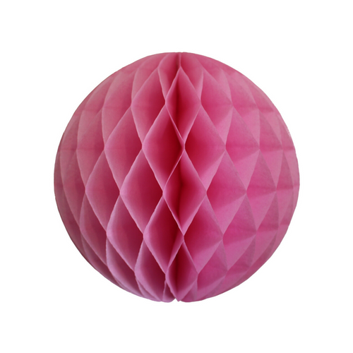 Rose Pink Tissue Paper Honeycomb Ball (3 sizes) - Ellie and Piper