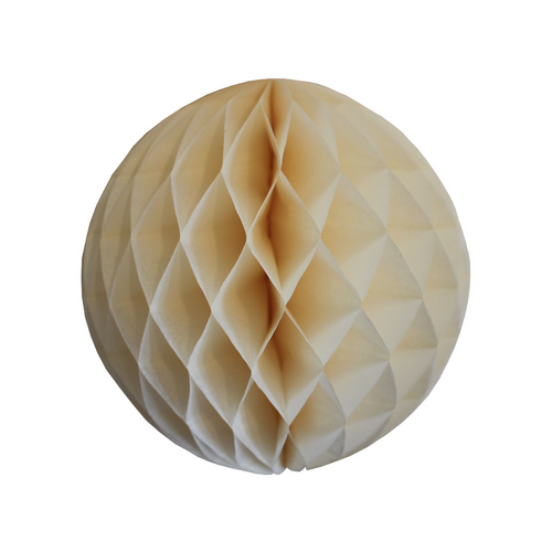 Ivory Tissue Paper Honeycomb Ball (3 sizes) - Ellie and Piper