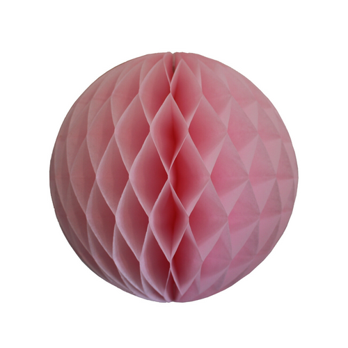 Light Pink Tissue Paper Honeycomb Ball (3 sizes) - Ellie and Piper