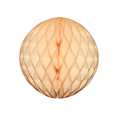 Pastel Peach Tissue Paper Honeycomb Ball (3 sizes) - Ellie and Piper