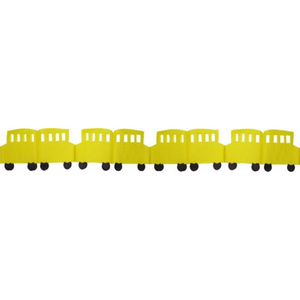 Tissue Paper School Bus Garland Decoration - Ellie and Piper