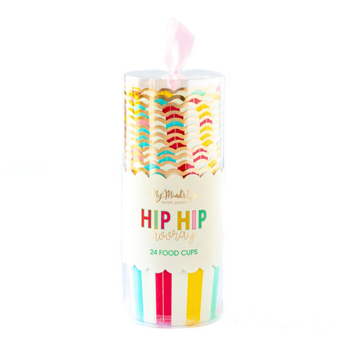 Hip Hip Hooray Food Cups - Ellie and Piper