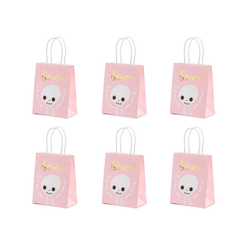 Pink Halloween Gift Bags (Set of 6) - Ellie and Piper