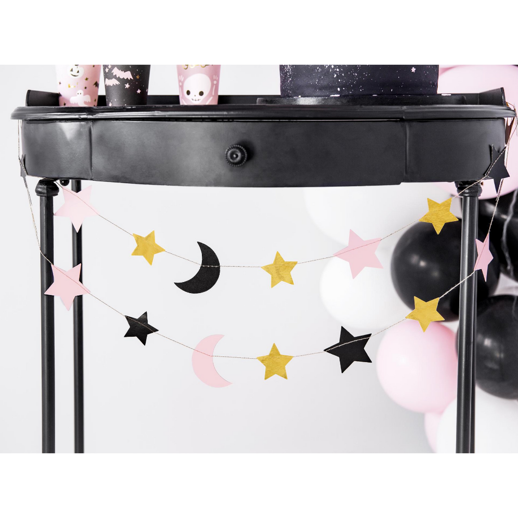 Stars and Moon Pink Halloween Garland - Ellie and Piper