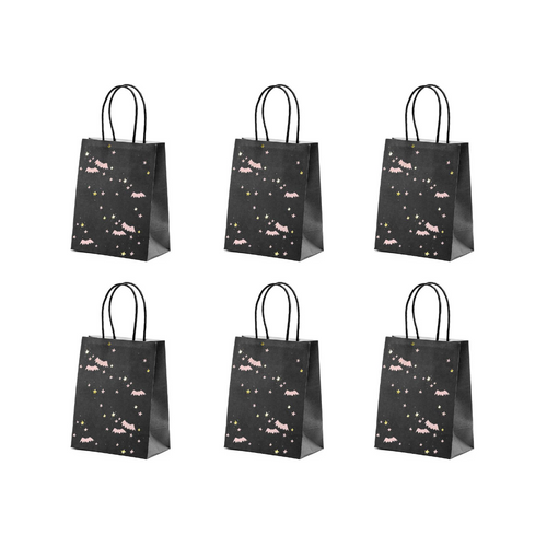 Pink Bats Halloween Gift Bags (Set of 6) - Ellie and Piper