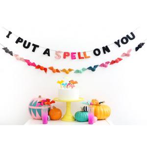 I Put a Spell on You Felt Halloween Garland - Ellie and Piper