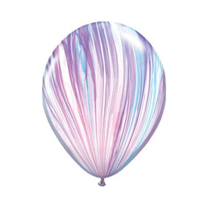 "11"" Purple and Blue Marble Latex Balloon - Ellie and Piper"
