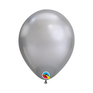 "11"" Chrome Silver Latex Balloon - Ellie and Piper"