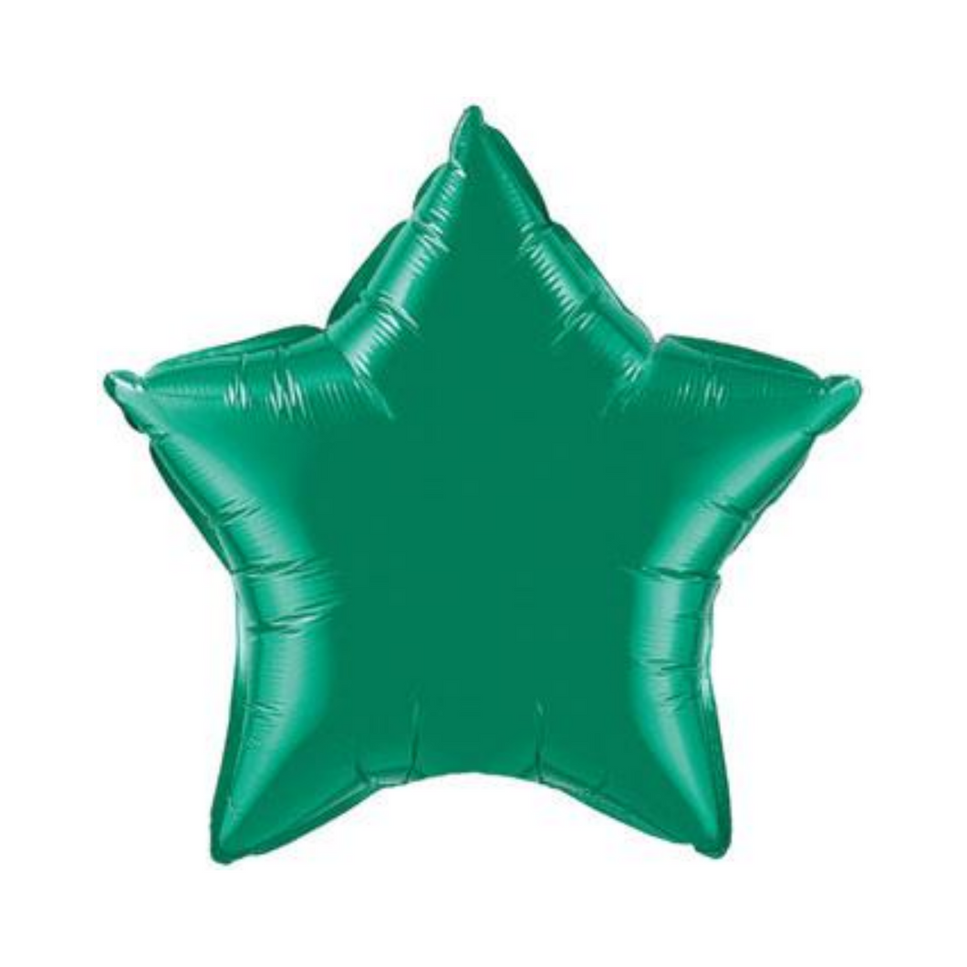 Emerald Green Star Shaped Balloon - Ellie and Piper