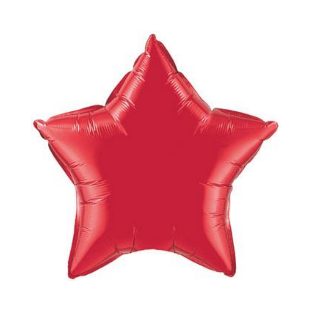 Ruby Red Star Shaped Balloon - Ellie and Piper