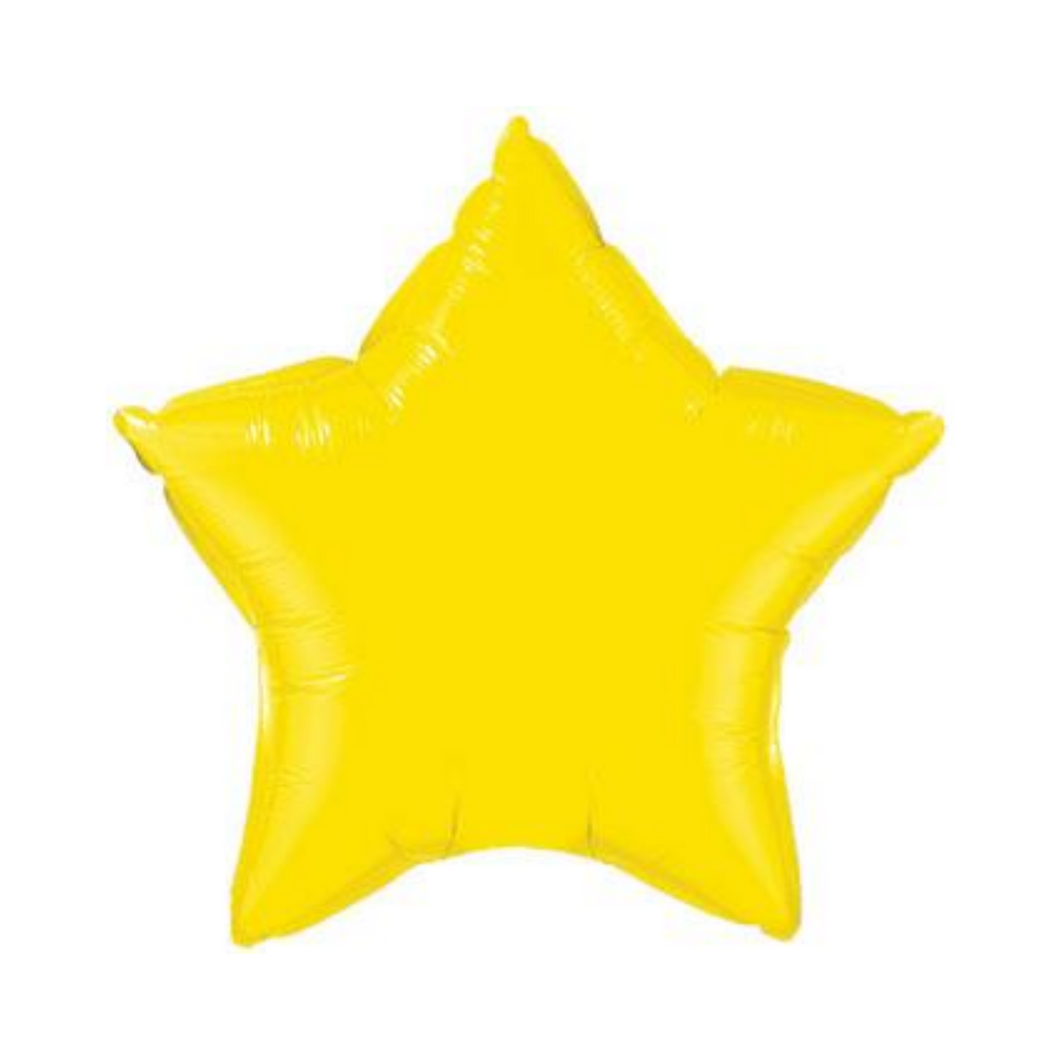 Yellow Star Shaped Balloon - Ellie and Piper
