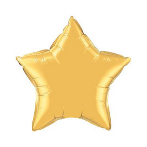 Metallic Gold Star Shaped Balloon - Ellie and Piper