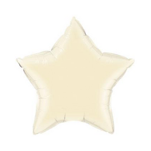 Pearl Ivory Star Shaped Balloon - Ellie and Piper