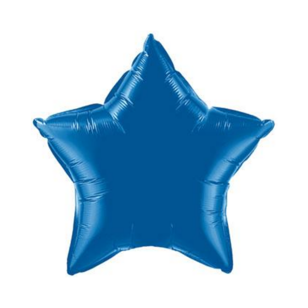 Dark Blue Star Shaped Balloon - Ellie and Piper