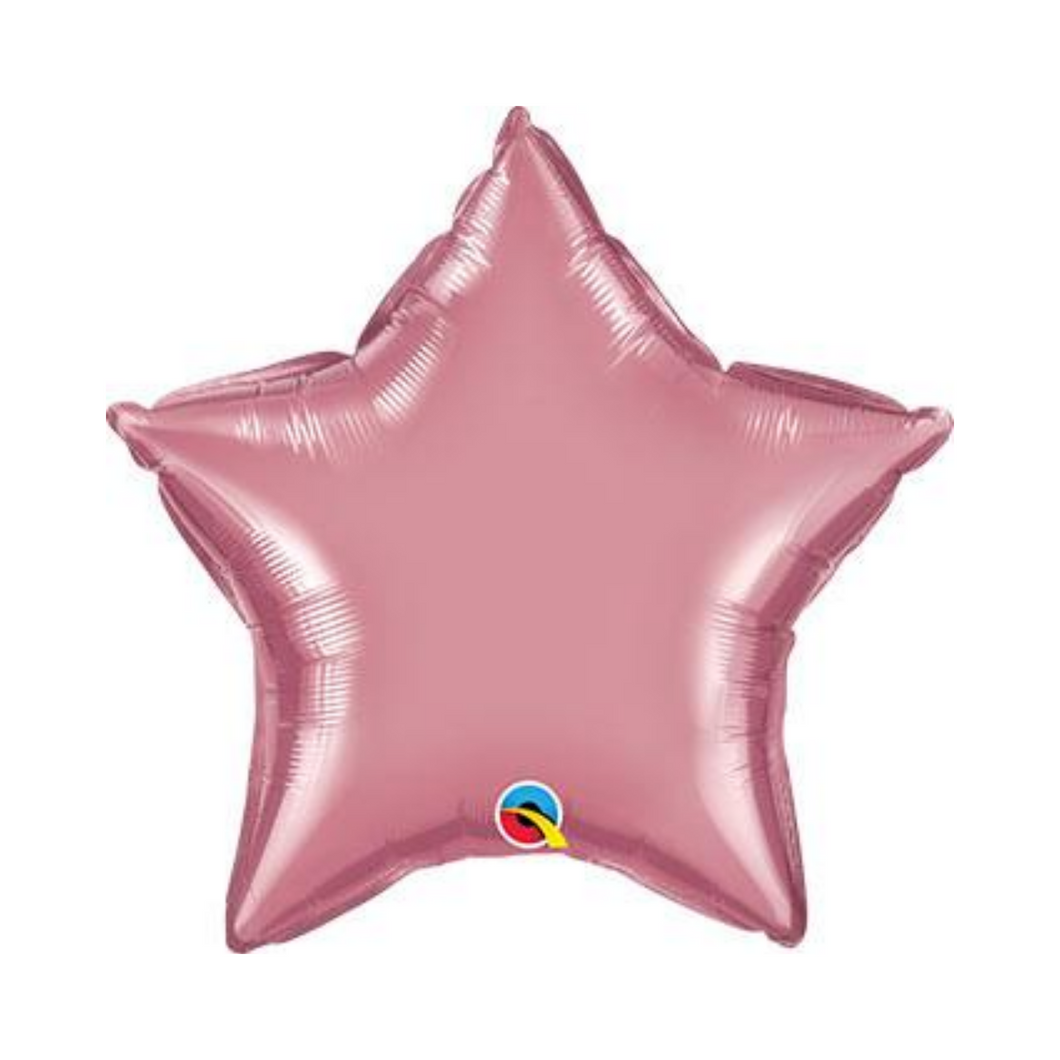 Chrome Mauve Pink Star Shaped Balloon - Ellie and Piper
