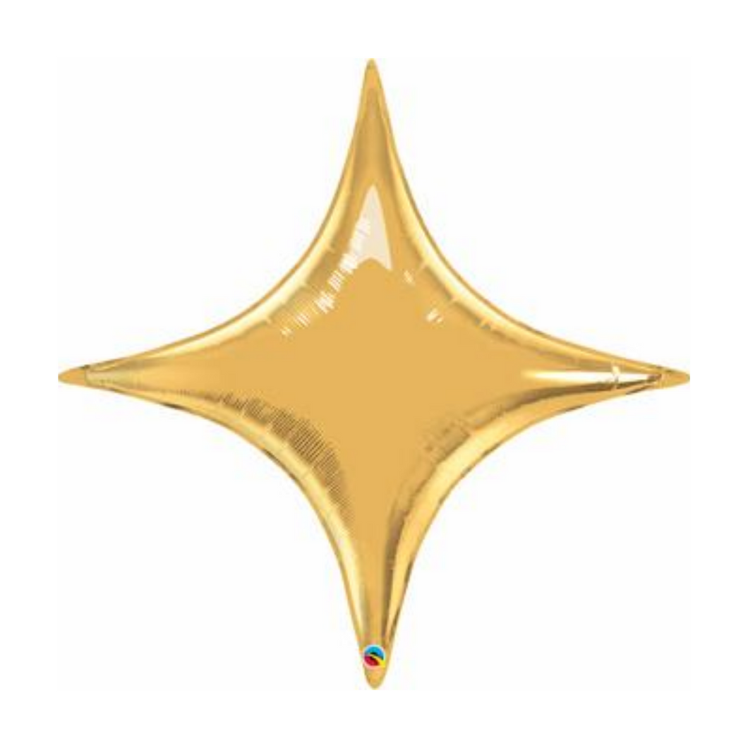 Large Four Point Metallic Gold Star Balloon - Ellie and Piper