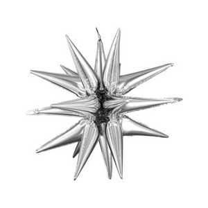 Large Silver Magic Star Cluster Balloon (Air fill only) - Ellie and Piper