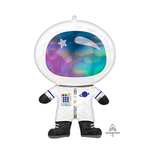 Iridescent Holographic Astronaut Balloon - Ellie and Piper
