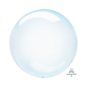"18"" Crystal Clearz Light Blue Balloon - Ellie and Piper"