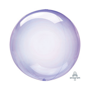 "18"" Crystal Clearz Purple Balloon - Ellie and Piper"