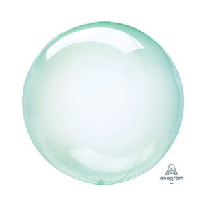 "18"" Crystal Clearz Green Balloon - Ellie and Piper"