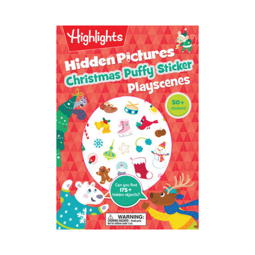Christmas Highlights Puffy Sticker Play Scenes - Ellie and Piper