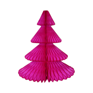 Hot Pink Christmas Tree Honeycomb Decoration - Ellie and Piper