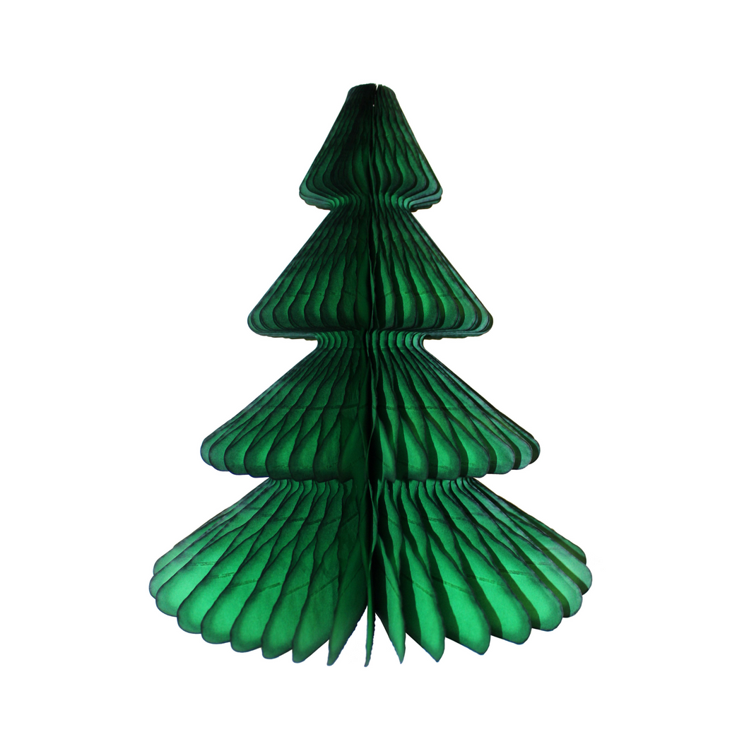 Emerald Green Christmas Tree Honeycomb Decoration - Ellie and Piper