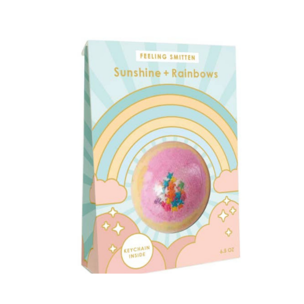 Sunshine + Rainbows - Surprise Keychain Bath Bomb - Ellie and Piper