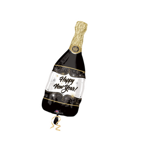 "36"" Black Happy New Year Champagne Bottle - Ellie and Piper"