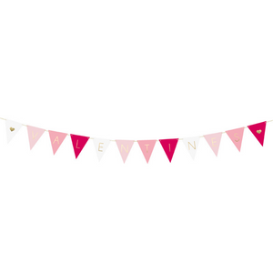 Valentine's Ombre Flag Bunting - Ellie and Piper