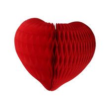 Red Heart Honeycomb Decoration (3 sizes) - Ellie and Piper