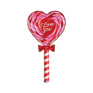 XL I Love You Lollipop Balloon - Ellie and Piper