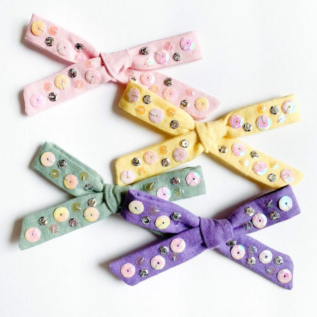 Pastel Handmade Hair Bow - Ellie and Piper
