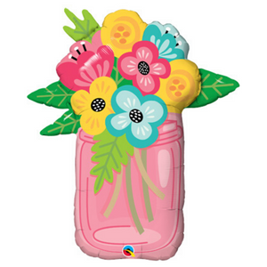 Mason Jar Flower Bouquet - Ellie and Piper