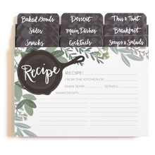 Herb Skillet Recipe Cards with Dividers - Ellie and Piper