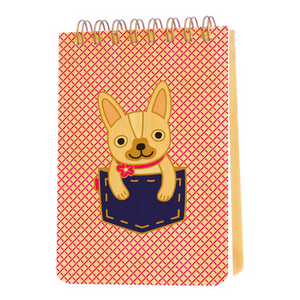 Frenchie Dog Wood Mini Notepad - Ellie and Piper