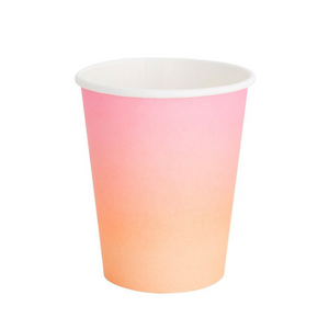 Sunset Peach and Pink Ombre Classic Party Cups - Ellie and Piper