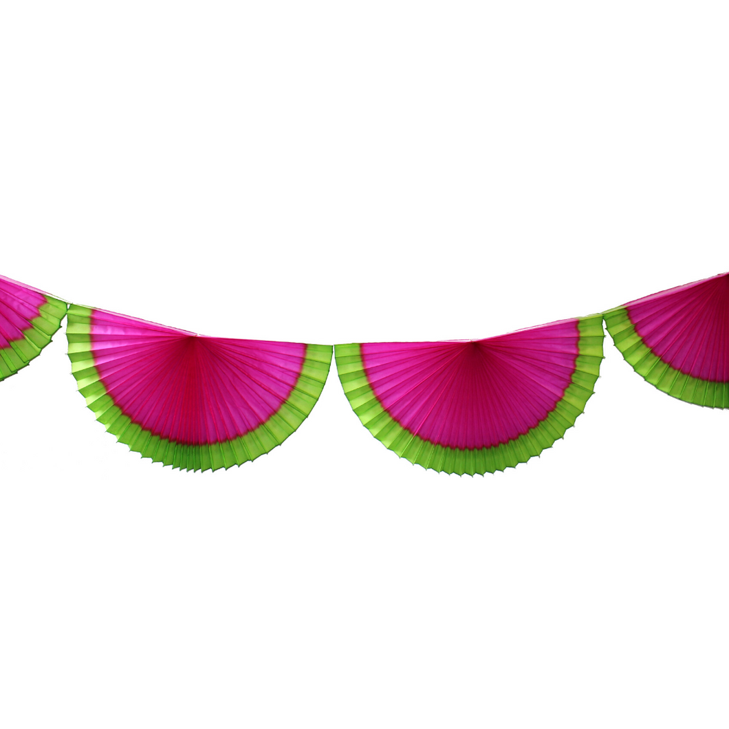 Watermelon Bunting Fan Garland - Ellie and Piper