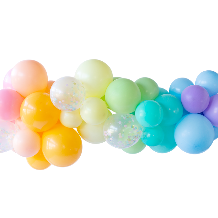 Whimsy Rainbow Colored Balloon Garland
