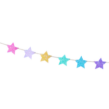 Whimsy Rainbow Colored Glittery Shining Stars Banner - Ellie and Piper