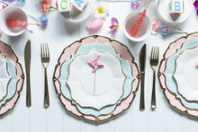 Ornate Bright White Small Paper Plates - Ellie and Piper