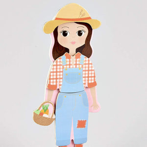 Wooden Magnetic Dress Up Doll Sophia - Ellie and Piper