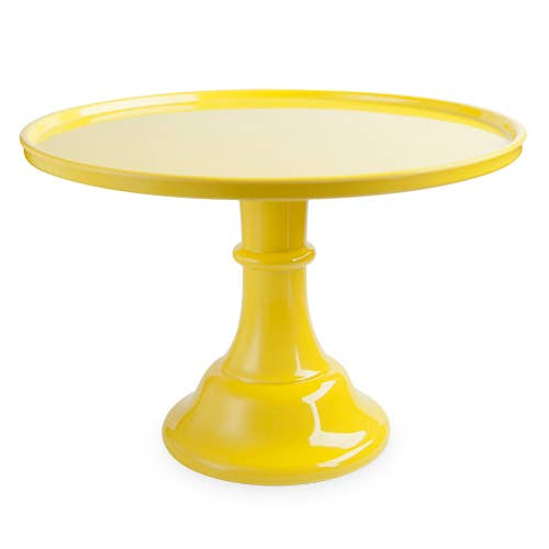 Yellow Melamine Cake Stand - Ellie and Piper