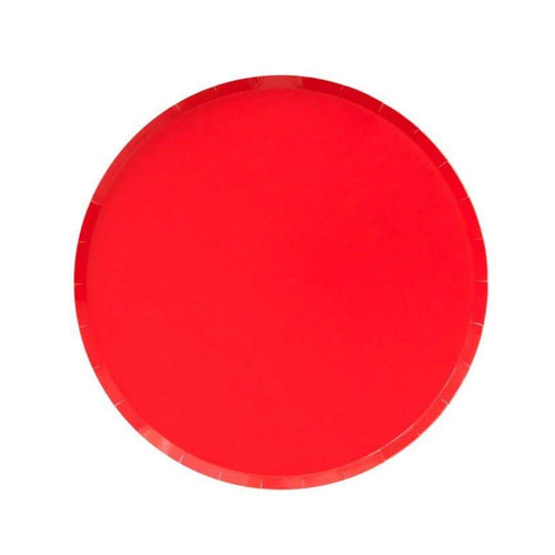 Cherry Red Small Paper Plates