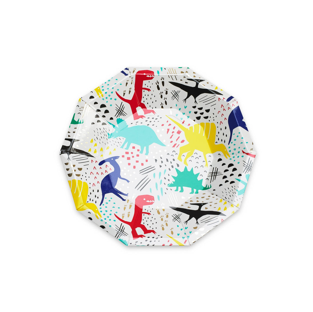 Dinomite Dinosaur Small Paper Plates - Ellie and Piper