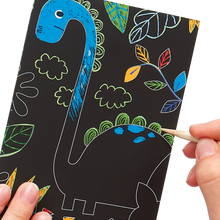 Dinosaur Scratch and Scribble Mini Scratch Art Kit - Ellie and Piper