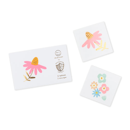Flora Temporary Tattoos - Ellie and Piper