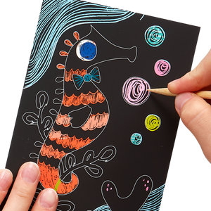 Scratch and Scribble Mini Art Kit - Under The Sea - Ellie and Piper